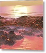 Future Earth, Artwork Metal Print by Walter Myers