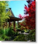 Garden Retreat Metal Print by Lynn Bauer