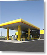 Gas Station Metal Print by Jaak Nilson