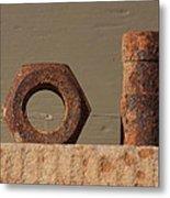 Geometry In Rust Metal Print by Cynthia Cox Cottam