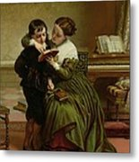 George Herbert And His Mother Metal Print by Charles West Cope
