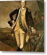 George Washington At Princeton Metal Print by Charles Wilson Peale