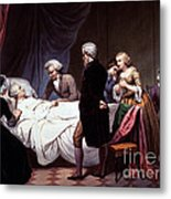 George Washington On His Death Bed Metal Print by Photo Researchers