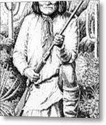 Geronimo Metal Print by Gordon Punt