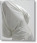 Ghost - Person Covered With White Cloth Metal Print by Matthias Hauser