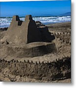 Giant Sand Castle Metal Print by Garry Gay