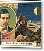 Giovanni Schiaparelli Lunar Advert Metal Print by Detlev Van Ravenswaay