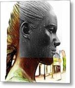 Girl Statue Metal Print by Stefan Kuhn
