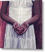 Girl With A Heart Metal Print by Joana Kruse