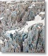 Glacial Crevasses Metal Print by Mike Reid