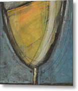Glass Of White Metal Print by Tim Nyberg