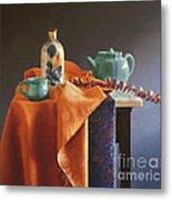 Glazed With Light Metal Print by Barbara Groff