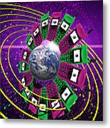 Global Communication Metal Print by Victor Habbick Visions