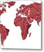 Global Meat Eating, Conceptual Artwork Metal Print by Victor De Schwanberg