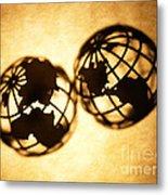 Globe 2 Metal Print by Tony Cordoza