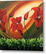 Glowing Flowers 4 Metal Print by Uma Devi