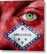 Go Arkansas  Metal Print by Semmick Photo