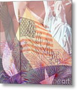 God Bless The Usa Metal Print by Cheryl Young