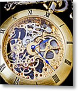 Gold Pocket Watch Metal Print by Garry Gay