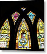 Gold Stained Glass Window Metal Print by Thomas Woolworth