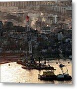 Golden Haze In Istanbul Metal Print by John Rizzuto