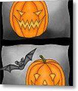 Good Pumpkin - Bad Pumpkin Metal Print by Claudia Pflicke