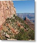 Grand Canyon National Park Bright Angel Loop Arizona Usa Metal Print by Audrey Campion