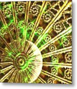 Green And Gold Metal Print by Caryn Schulenberg