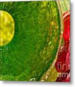 Green And Red Metal Print by Artist and Photographer Laura Wrede