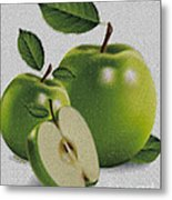Green Apples Metal Print by Cheryl Young