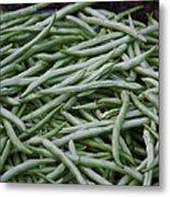 Green Beans Metal Print by David Buffington