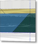 Green Triangle Metal Print by Naxart Studio