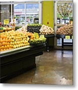 Grocery Store Produce Section Metal Print by Andersen Ross