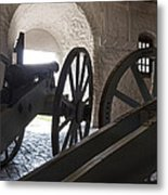 Ground Floor Cannons Metal Print by Peter Chilelli