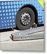 Guided Busway Wheel Mechanism Metal Print by Martin Bond