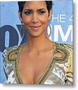 Halle Berry Wearing An Emilio Pucci Metal Print by Everett