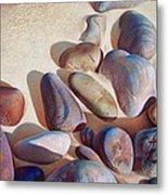 Hallett Cove's Stones - Detail Metal Print by Elena Kolotusha