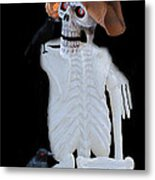 Halloween Card  Metal Print by Debra     Vatalaro