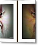 Halloween Self Portrait - Gently Cross Your Eyes And Focus On The Middle Image Metal Print by Brian Wallace
