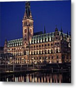 Hamburg City Hall Metal Print by Benjamin Matthijs