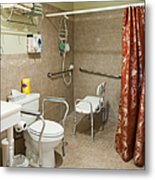 Handicapped-accessible Bathroom Metal Print by Andersen Ross