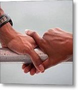 Hands Of President Obama And Michelle Metal Print by Everett