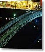 Hapenny Bridge, Dublin City, Co Dublin Metal Print by The Irish Image Collection