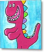 Happosaur Metal Print by Jera Sky