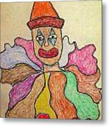 Happy Clown Metal Print by Robyn Louisell