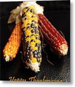 Happy Thanksgiving Card No.1 Metal Print by Luke Moore