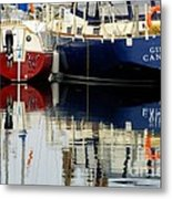 Harbor Reflections  Metal Print by Bob Christopher
