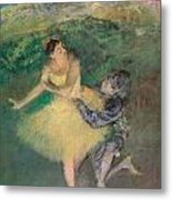 Harlequin And Colombine Metal Print by Edgar Degas