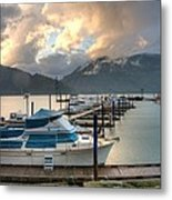 Harrison Lake At Dusk Metal Print by Lawrence Christopher