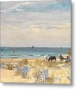 Harvesting The Land And The Sea Metal Print by William Lionel Wyllie